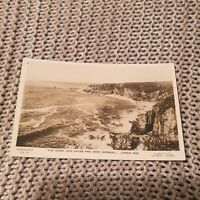 The Coast & Caves & Cape Cornwall, Lands End - Vintage Real Photo Postcard
