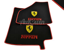 Floor Mats For Ferrari 360 Modena With Red Leather Rounds Ferrari Logo LHD NEW