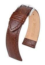 Hirsch Highland 19 mm brown watch strap, L