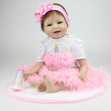 22'' Bebe Reborn Baby Silicone Vinyl Girls Doll Toy Reborn Babies Dolls for Sale