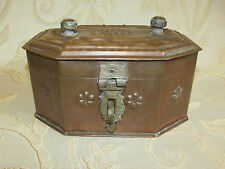 Antique Victorian Handmade Copper Spices Box With Tray