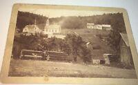 Rare Antique Victorian American Landscape! Farm, Church & Lumber Cabinet Photo!