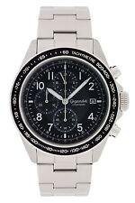 Gigandet Racetrack Herrenuhr Chronograph Datum Edelstahlarmband Schwarz G24-005
