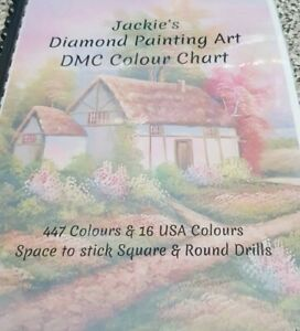 Personalised Diamond Painting Art DMC Colour chart Guide book Laminated