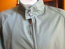 2Xl 46 True Vtg 70s mens Ivy League Harrington Brass Zip Avocado Green Jacket