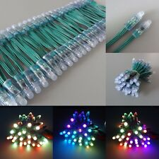 500pcs Green Wire 12V WS2811 RGB LED Pixel Full Color Diffused 12mm Light Round