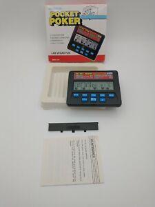 Radica Pocket Poker #1310 Electronic LCD Hand Held Game Royal Flush 3000 in Box
