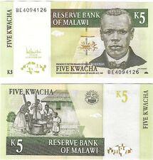 Malawi 5 KWACHA p-36c 2005 NEUF NEU UNC BANCONOTA UNCIRCULATED