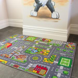 Kids Roads City Toy Map Floor Mat Rug for Cars Play Girls Boys Children Playroom