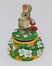 Charming Tails Figurine Collectible Music Box Fitz & Floyd 03/200 Music Box