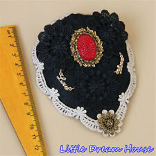 Classical Red Diamond Women Lady Queen Bride Girl Small Top Hat Hair Clip Topper