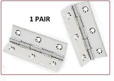 "Pair  3"" x 2"" (75mm x 50mm) STEEL Butt  Hinges - Nickle Plated Door Hinge SILVER"