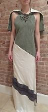 GREG LAUREN Army Tent Silk Nomad Dress NWT $2600 sz 2 XS maxi cotton wool silk