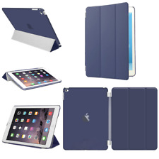 For Apple iPad 4 3 2 mini Air 2 Pro Case Cover Stand Leather Magnetic Dark Blue