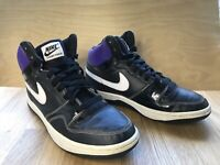 RARE! 2009 Nike Court Force Unisex Black Purple Shoes Trainers UK 7 EUR 41 US 8