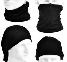 HEAD MULTI SCARF NECK TUBE FACE MASK Black Biker Harley Triumph Indian Victory