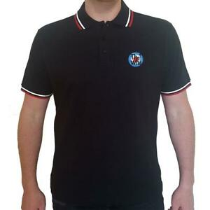 OFFICIAL LICENSED - THE WHO - TARGET LOGO BLACK POLO SHIRT MOD DALTREY