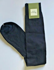 Vannucci Mens Dress Socks Knee Over the Calf Navy Taupe Ribbed 10-13 $30