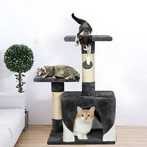 Cat Tree Scratcher Scratch Post Kitten Toy Scratching Activity Centre Climbing
