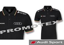 polo maglia audi sport cotone tricolore Italia corse racing maglietta s line