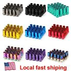 20PCS extended forged steel wheel tuner lug nuts open end light M12x1.5 M12x1.25