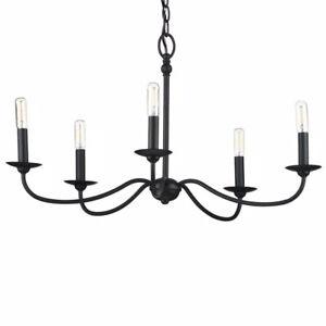 Progress Lighting Pacolet 5-Light Textured Black Chandelier P400233-031