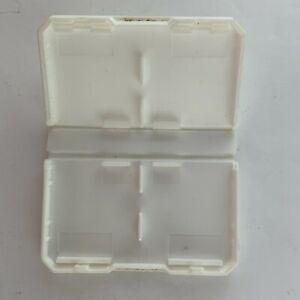 Intec Cart Storage Case White Nintendo DS Handheld Video Game - 4 Game Holder
