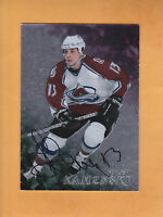 1998 99 BE A PLAYER AUTO # 186 VALERI KAMENSKY COLORADO AVALANCHE