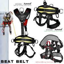 Outdoor Heavy Duty Tree Climbing Rappelling Belt Rigging Rock Harness Safety