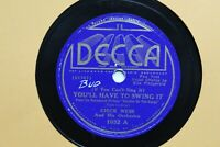 "1936 Chick Webb Decca 1032  78 Record 10"" You'll Have To Swing It"
