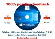Windows 10 upgrade from win 7, 8 or 8.1.to windows 10 no license needed 64bit.