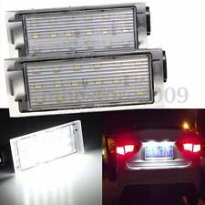 12V LED Number License Plate Light For Renault Twingo II lio Clio Megane Lagane