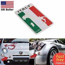 "ALUMINUM Italy Flag Emblem Sticker 3D Decal For Auto, Car, Truck 3.2""x2"" Italian"
