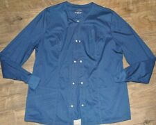 Womens Excellent Cherokee Luxe Navy Button Front Jacket L