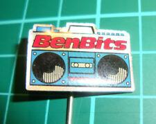 Benbits chewing gum kauwgom radio boombox -  pin badge vintage speldje