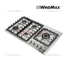 34 inch Gas Cooktop 5 Burner Stainless Steel NG/LPG Conversion Cook Top Stove