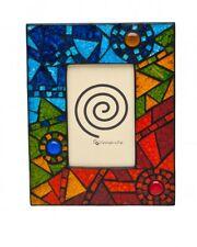 "Hecho a mano de cristal mosaico abstracto Arco Iris Foto Marco de Imagen 6 X 4"""