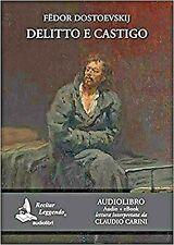 Audiolibro audiobook cd MP3 DELITTO e CASTIGO  FEDOR DOSTOEVSKIJ usato