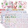 12pcs in1 Flower Water Transfer Nail Art Stickers Adesivi Decorazione Per Unghie