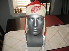 MENS/WOMENS DETROIT RED WINGS CCM Trooper Trapper Winter Hat RED/WHITE  NWT