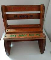 CHILD'S CHAIR SOLID WOOD OR T0 DISPLAY COLLECTABLE  DOLLS & BEARS
