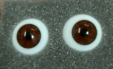 1Paar Mundgeblasene Glasaugen Gr.18 mm Braun