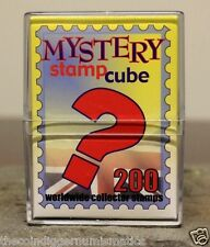 Harris Stamp World Mystery Cube with 200 Mixed Worldwide Stamps