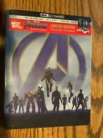 Avengers Endgame Limited Edition Collectible Steelbook 4k Ultra HD Blu-Ray Digit