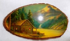 Old Vintage Tree Wood Wooden Hanging Picture Va.