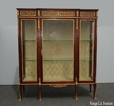 Antique French 19th Century Louis XVI Display Cabinet Vitrine w Ormalu