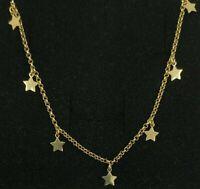 Halskette Gold 18k. Kette Massiv Mit 10 Sterne