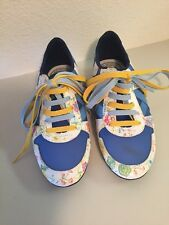 Munich Barcelona Womens Girls Shoes Sz Youth 4 36 Blue White Floral Athletic