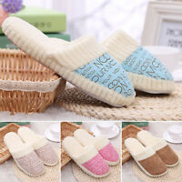 Unisex Home Anti-slip Shoes Soft Winter Warm Cotton House Indoor Plush Slippers