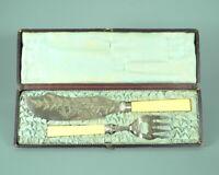 Englisches Fischbesteck Silber plated, punziert, England, um 1880.